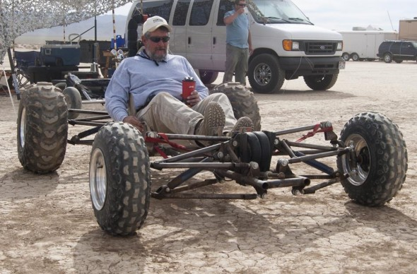 Ken Shaw with his Quad
