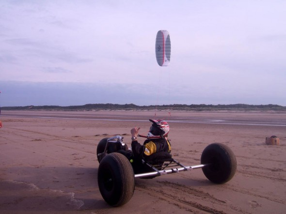 Summers evening at Mablethorpe having just broken the 50mph barrier with the PTW Superbug and a 6m Ozone Access
