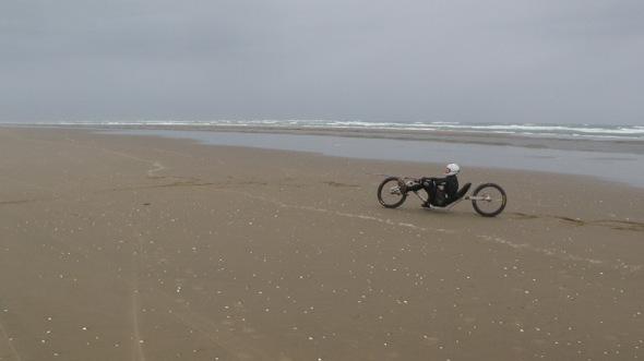 World Record Kite Biker, Peter Foulkes aka Gannet